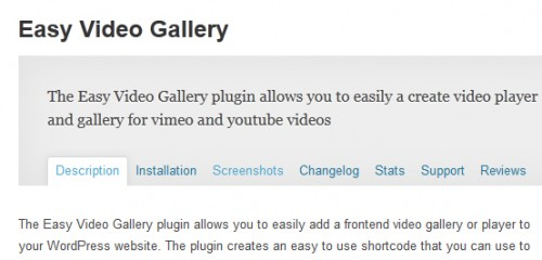 Easy Video Gallery