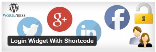 Login Widget With Shortcode