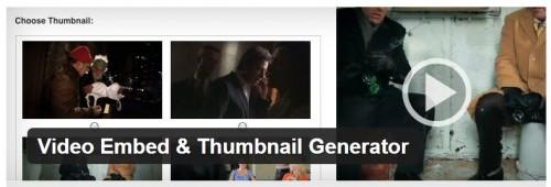Video Embed & Thumbnail Generator