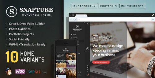 Snapture Photography and Corporate WordPress Theme
