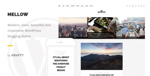 Mellow - Modern Responsive WordPress Blog Theme