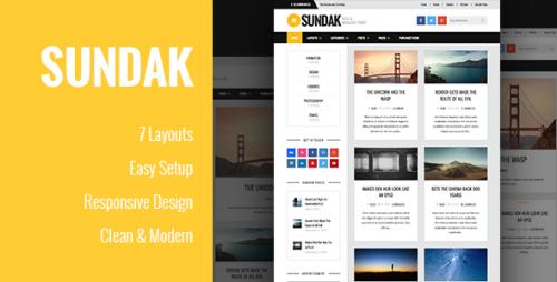 Sundak - Blog and Magazine WordPress Theme
