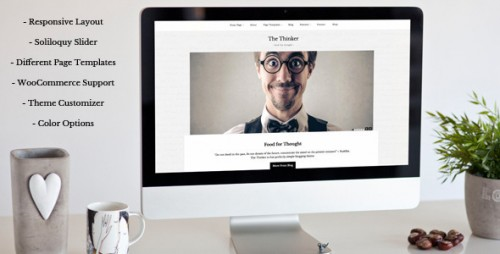 The Thinker - Simple Blogging WordPress Theme