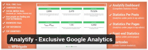 Analytify - Exclusive Google Analytics