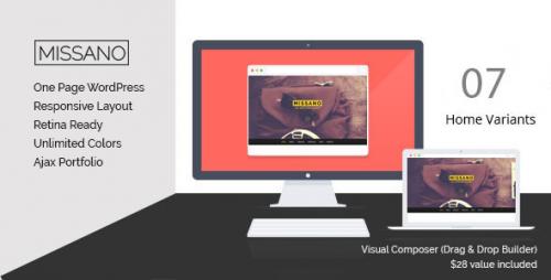 MISSANO - WordPress One Page Responsive Portfolio Theme