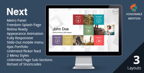 NEXT - WordPress Unique Portfolio Theme
