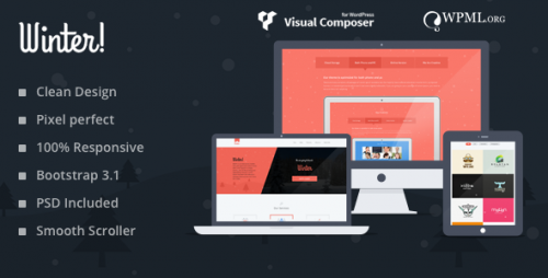 Winter - Colorful Responsive One Page WP Theme