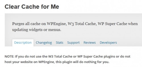 Clear Cache for Me