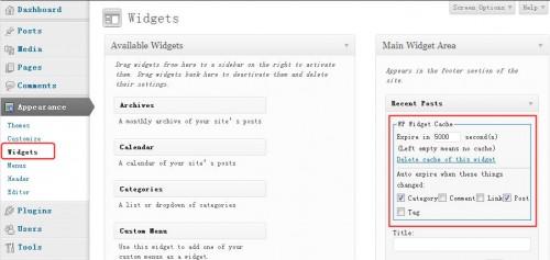 WP Widget Cache