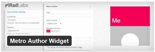 Metro Author Widget