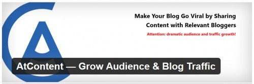 AtContent - Grow Audience & Blog Traffic