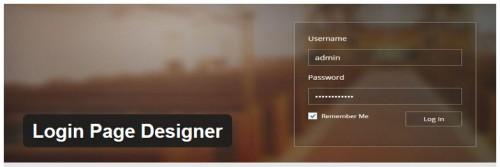 Login Page Designer