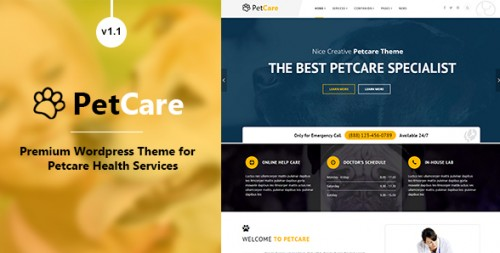 PetCare - Responsive WordPress Theme