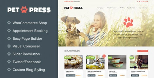 PetPress - A Pet Shop Theme for WordPress