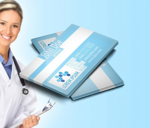 Clean Medical Business Card Design