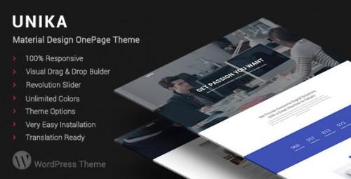 Unika - Responsive Material Design WordPress Theme