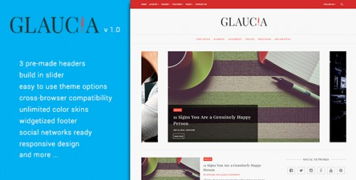 Glaucia - Responsive WordPress Blog Theme