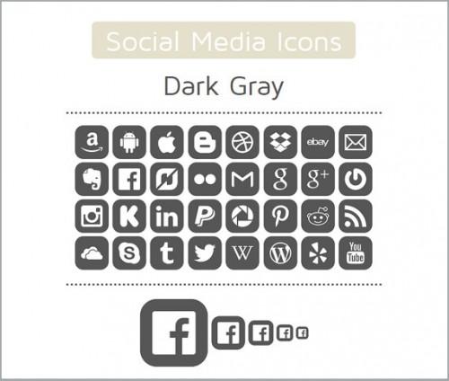 160 High Quality Digital Social Media Icons