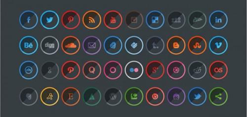 Free Shaded Social Media Icons