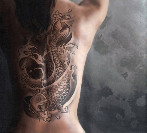 Back Koi Fish Tattoo Trend