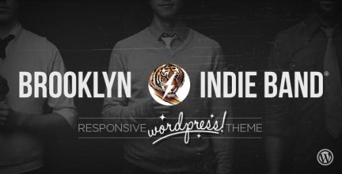 Brooklyn Indie Band WordPress Theme