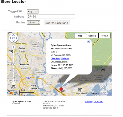 Google Maps via Store Locator Plus