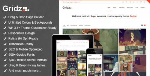 Gridz - Agency Retina Ready Theme