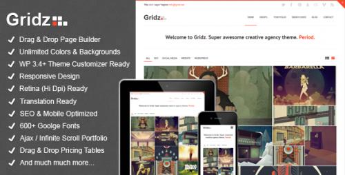 Gridz - Agency Retina Ready Theme
