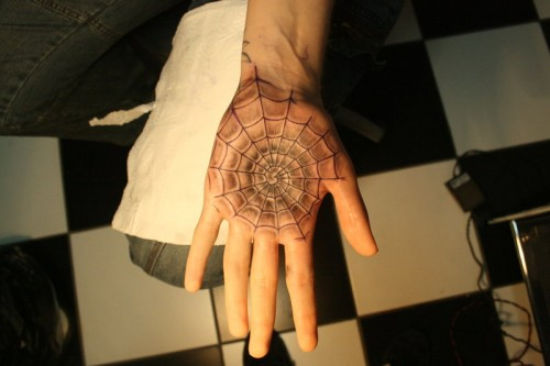 Hand Spider Web Tattoos Trend