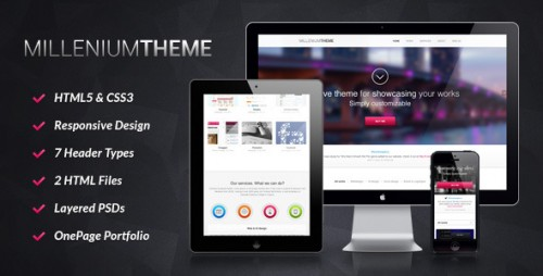 Millennium Responsive One Page Theme