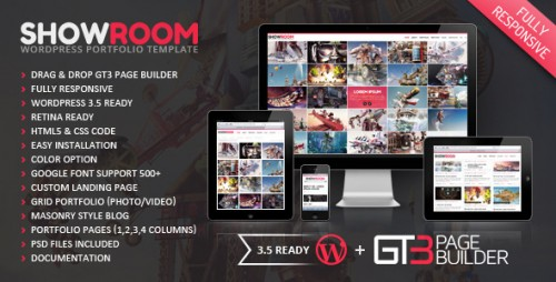 Showroom Portfolio Retina Theme