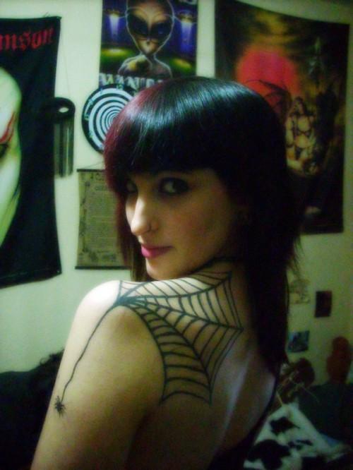 Temporary Spider Web Tattoo