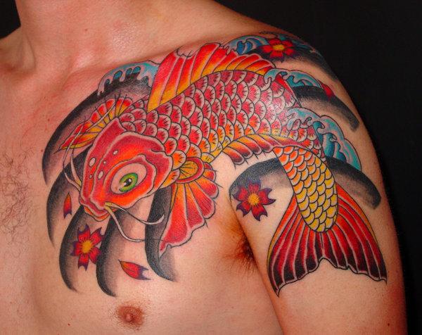 25 Lovely Koi Fish Tattoo Design Ideas