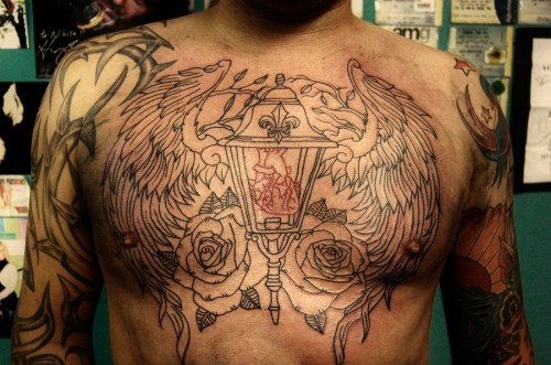 Amazing Chest Piece Outline