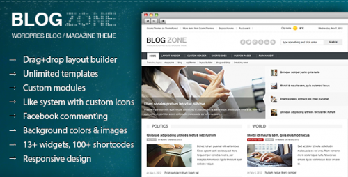 Blogzone - Drag-and-drop Magazine Theme