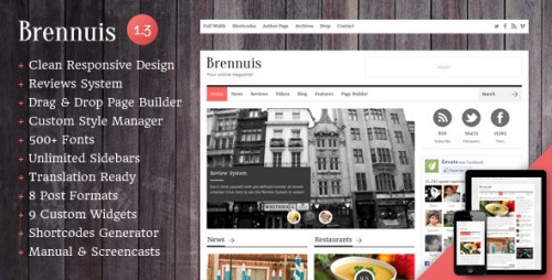 Brennuis - WordPress Magazine and Blog