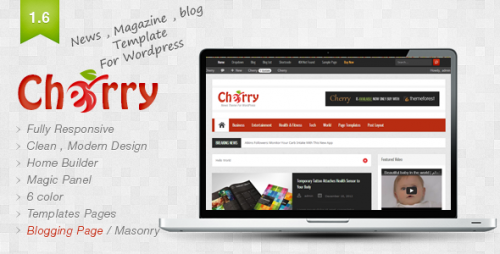 Cherry - Responsive News and Magazine Theme