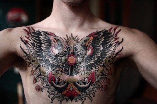 Chest Piece Tattoo for Men 2013