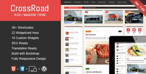 CrossRoad - Responsive WordPress Magazine