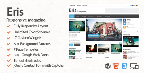 Eris - Responsive WordPress Magazine Theme