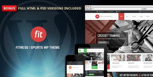 FIT - Gym Responsive Theme