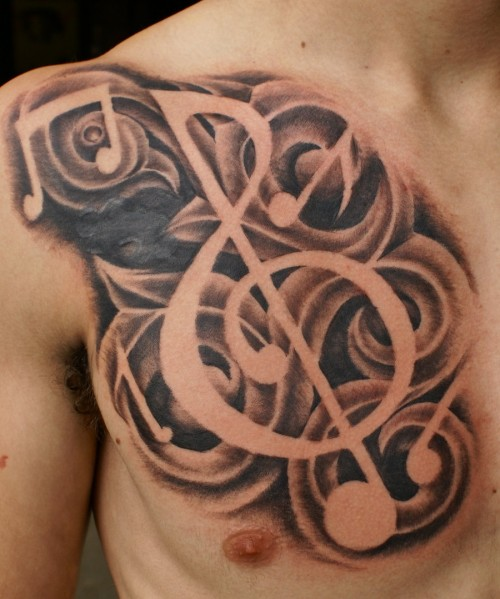 Freehand Music Tattoo Ideas