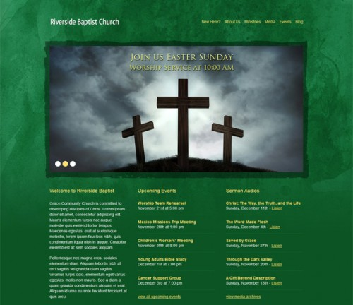 Green Grunge Church Theme