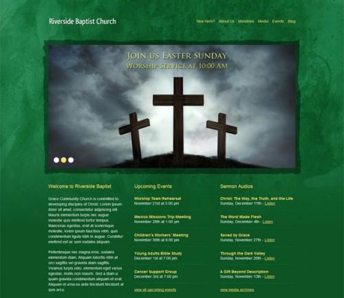 Green Grunge Church Theme