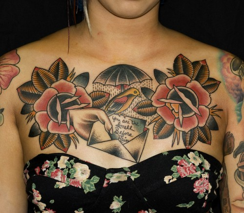 Hollys Chest Piece Tattoo