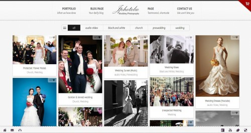 JPhotolio Wedding Photography Theme