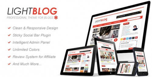 LightBlog: Blogging WordPress Theme