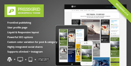 PressGrid - Frontend Publishing Theme