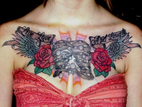 Rose Flower Chest Piece