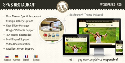 SPA Treats - Spa & Restaurant WordPress